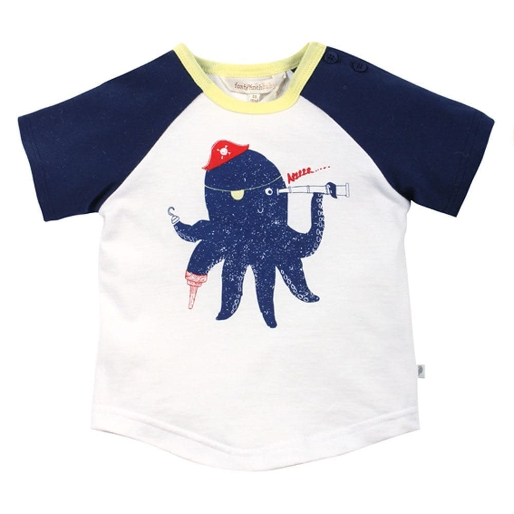 Baby boys t shirt top octopus print straight from the for T shirt printing for babies
