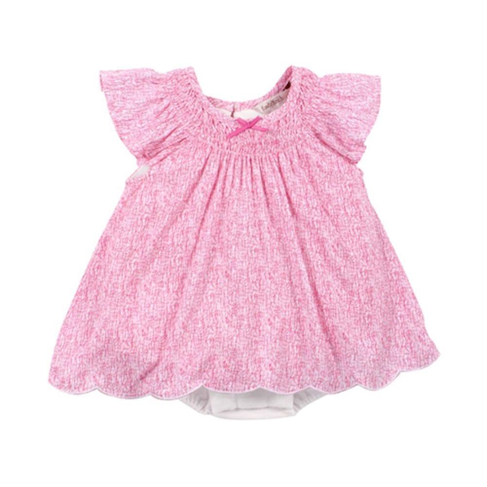 Baby Girls Scribble pink print dress with white bodysuit is pretty ... b2ec41fb4