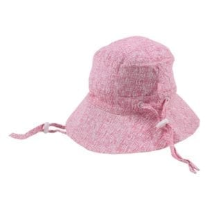 Girls Sun Hat : scribble print rear view