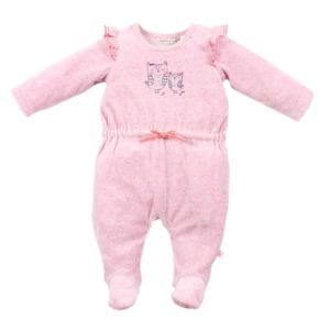 image of girls velour pink romper