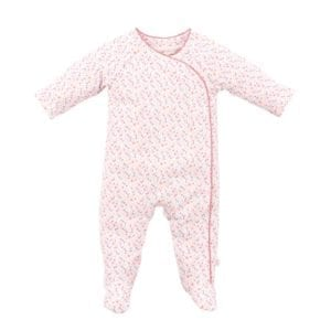 image of baby girls pink romper