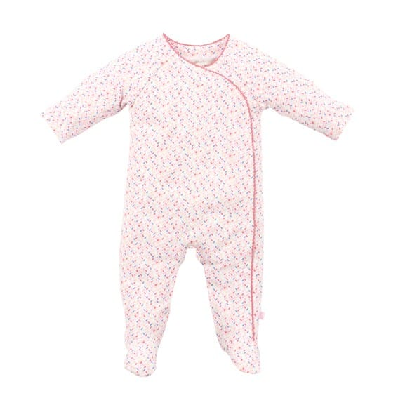 e61f1330570  Aspen Rain  Print Romper + FREE matching beanie. 🔍. image of baby girls  pink romper