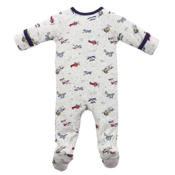 image of baby romper with aeroplane print