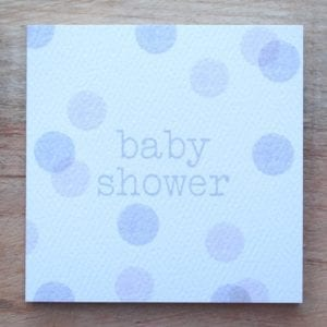 Gift tags – Baby or Baby Shower image of grey dot baby shower card