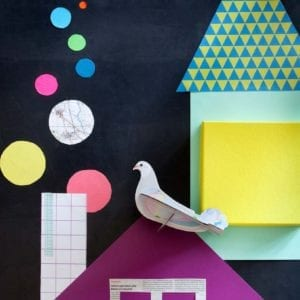 interior décor colourful and sustainable artistic dove product image styled