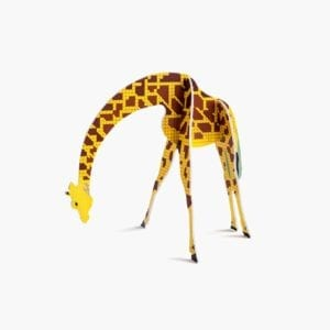 interior décor colourful and sustainable artistic giraffe product image