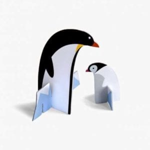 interior décor colourful and sustainable artistic penguins product image white background