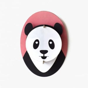 interior décor craft kit wall panda - artistic, sustainable object for any room in the house