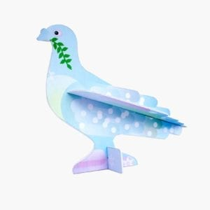 interior décor colourful & sustainable artistic peace dove card image white background