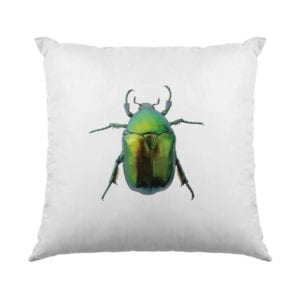 Green Beetle cushion front