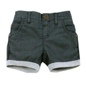 image of boys denim comfy shorts