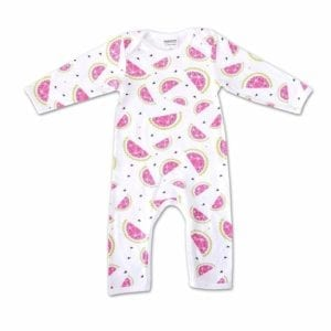 image of Organic Cotton Watermelon Romper