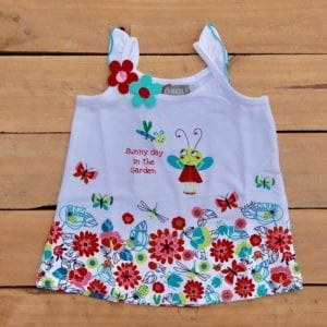 baby girls dress with sunny day in the garden floral print - product image