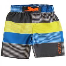 image of Boboli 'Iron' striped Boxer swim shorts
