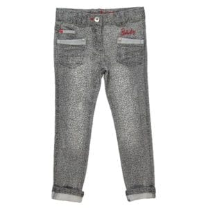 girls grey stretch denim jeans