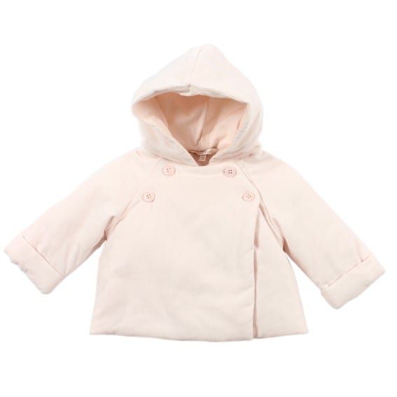 da63b3dec Baby Girls Padded Jacket with Hood - fine cord cotton - Bokbo ...