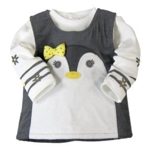 image of boboli baby dress penguin styling