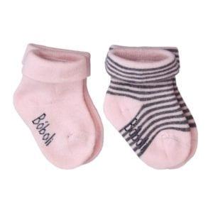 pink-grey 2 pack baby socks