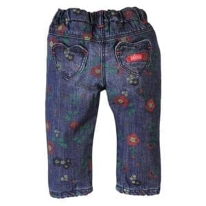image of girls denim floral jeans