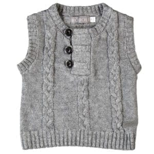 baby boys grey vest front product image