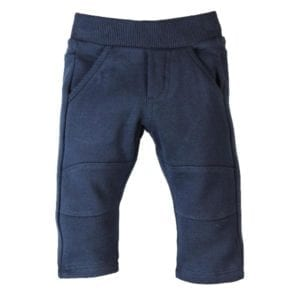 image of dark blue toddler boys track pants with pockets