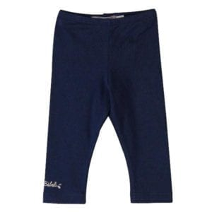 image of navy blue stretch cotton leggings
