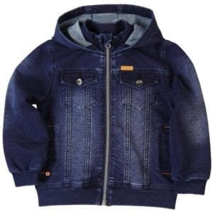image of boys hooded denim jacket