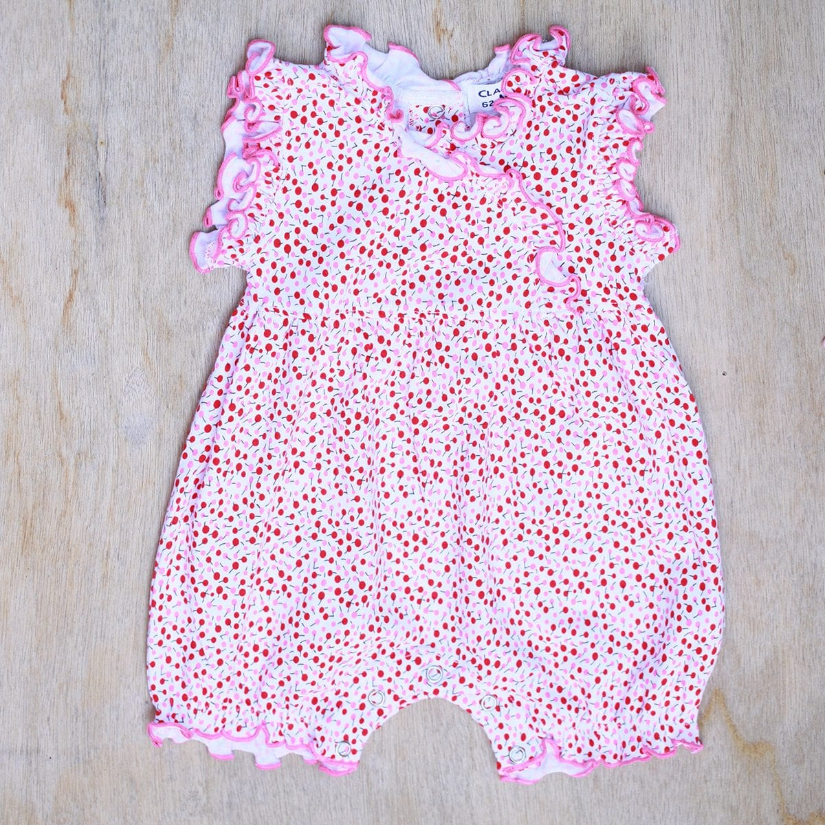 Baby Girl Ruffle Romper - Oranges U0026 Apples Print
