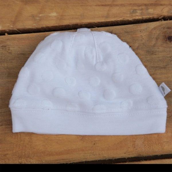 bebe baby beanie white image