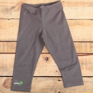 baby girls leggings grey with logo detail right ankle image