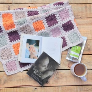 gift book being mummy image of cover and double page spread featuring photo of mother and baby and short prose