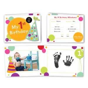 baby keepsake my 1st birthday front and back image