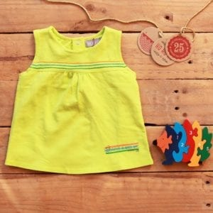 Baby Girls Gift Set – cotton top and wooden puzzle