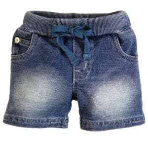 Baby Boy Bleached Denim Shorts