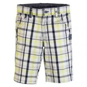 image of Boys Bermuda Shorts (Lemon/Blue check)
