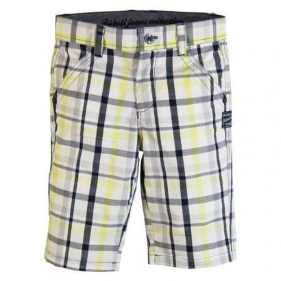 image of Boys Bermuda Shorts (Lemon/Blue check)